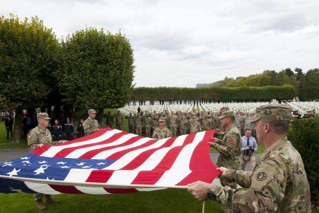 St. Mihiel American Cemetery Flag Retirement
