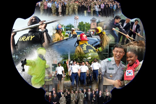 Collage of major events hosted by United States Garrison Daegu during the fiscal year 2018. (U.S. Army photo by Sgt. Kim, Bumjoon, USAG Daegu Public Affairs)