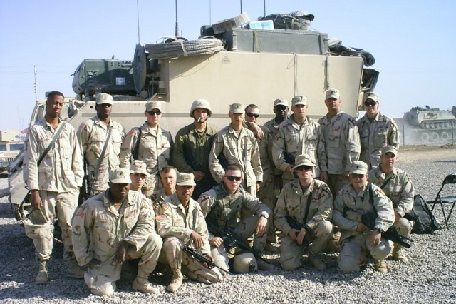 A young, Capt. Coley Tyler (second row far right) and his FIST team, before the Second Battle of Fallujah. Lt. Col. Coley Tyler, former member of 2nd Battalion, 7th Cavalry Regiment, 3rd Brigade Combat Team, 1st Cavalry Division recently wrote a book about the Ghost Battalion's role in the battle. (Photo courtesy of Lt. Col. Coley Tyler.)