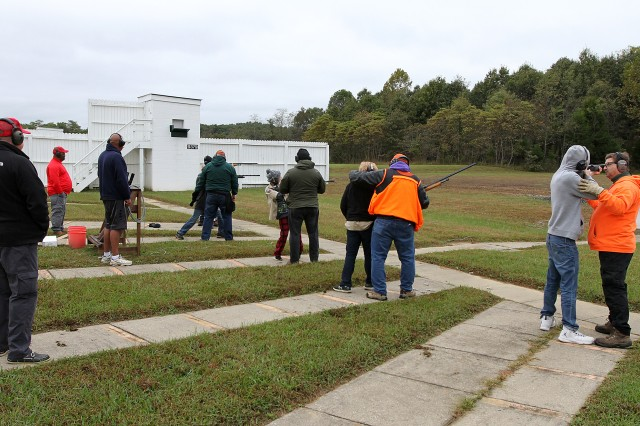 More than 170 Scouts representing the Lincoln Heritage Council shot skeet at French Shooting Range Oct. 13, 2018.
