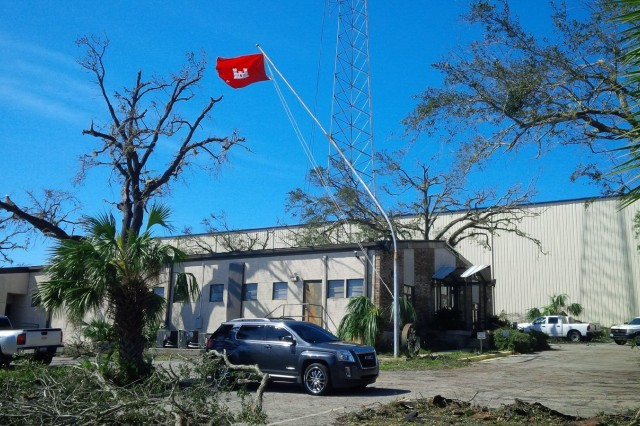 The U.S. Army Corps of Engineers Mobile District Panama City office was damaged by Hurricane Michael on Oct. 10, 2018, in Panama City, Fla. USACE Mobile District has deployed office trailers and generators to the office and plans to begin repairs on the facility next week.