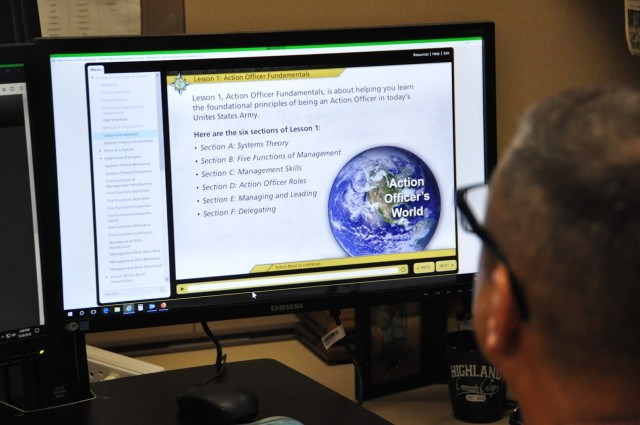 New Action Officer course features updated software