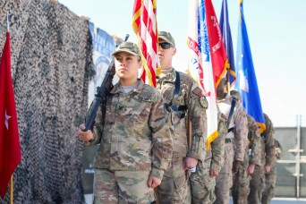 U.S. Navy Sierra rotation farewells NATO Role III, Kandahar Airfield
