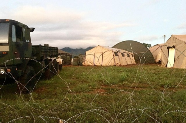 Soldiers from the 25th Infantry Division and supporting units participated in the I Corps-led Warfighter 19-01 at Schofield Barracks, Hawaii, from September 30 to October 11. The multi-echelon exercise tested the division's ability to manage, direct, and synchronize multiple brigades with air and ground assets under continuous, 24-hour, unified land operations. (U.S. Army photo by Master Sgt. Mary Middlesteadt, 25th Infantry Division)