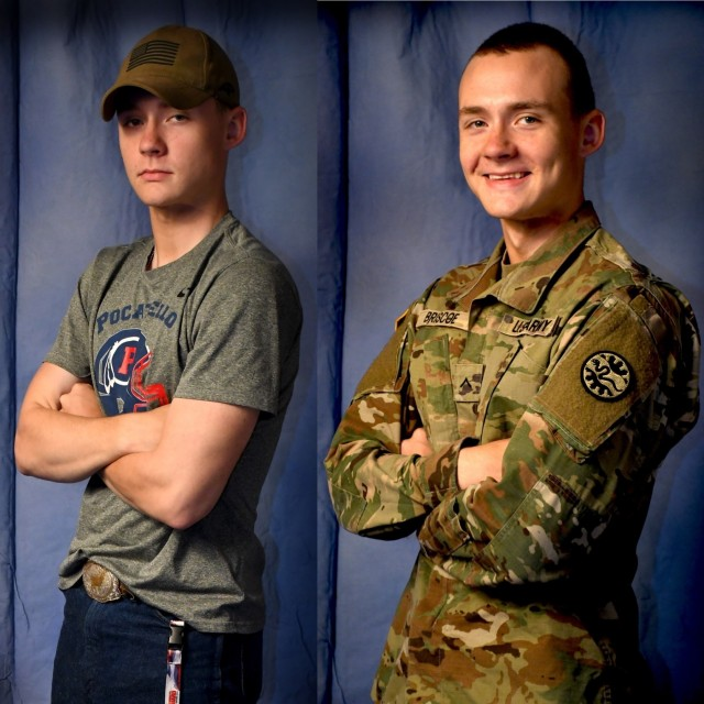 While still in high school, Idaho Army National Guard Soldier serves community, builds future