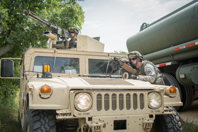 Soldiers and Airmen of the Georgia National Guard render emergency aid