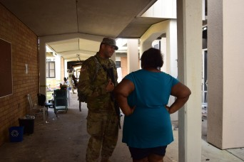 Florida National Guard providing security to shelters