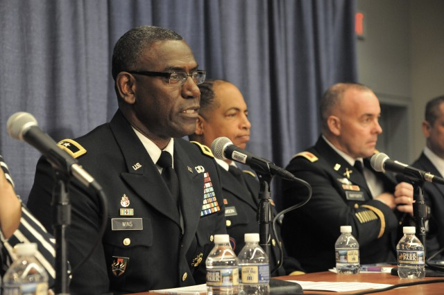 During a panel on munitions modernization and achieving overmatch on the battlefield during the annual AUSA conference, Oct. 8-10, 2018, Maj. Gen. Cedric T. Wins, RDECOM commanding general, gave insight into a recently completed energetics study that aligned with two of the modernization priorities.