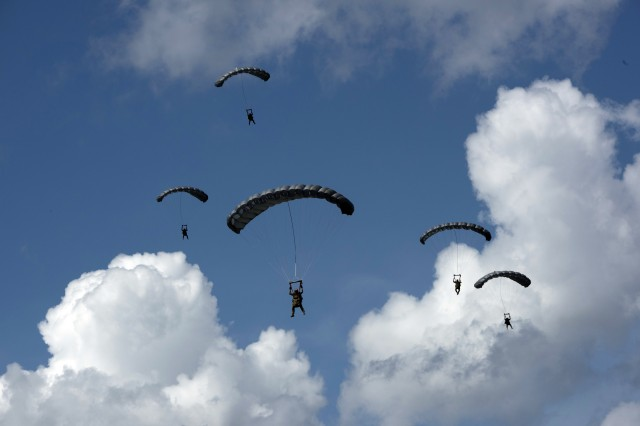 Operational jumpers navigate to the drop zone.