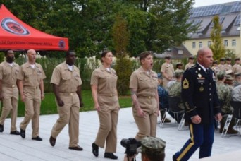 Soldier inducted into Navy Chief's Mess