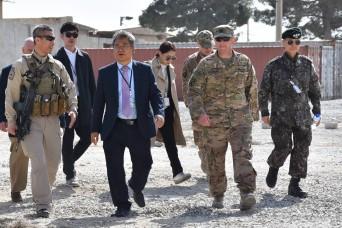 South Korean ambassador to Afghanistan visits Bagram