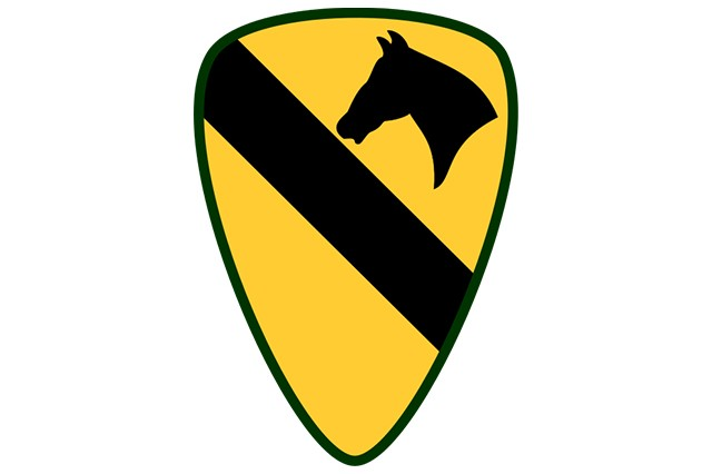 1st Cavalry Division shoulder sleeve insignia.