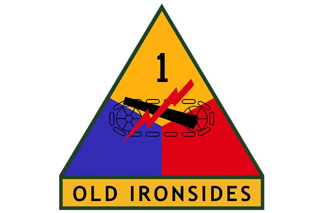 1st Armored Division shoulder sleeve insignia.