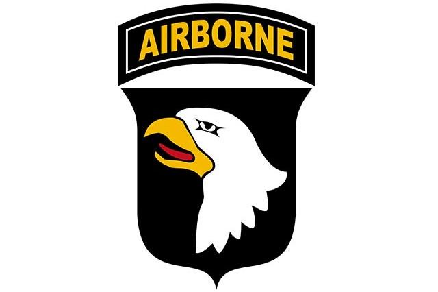 101st Airborne Division shoulder insignia.