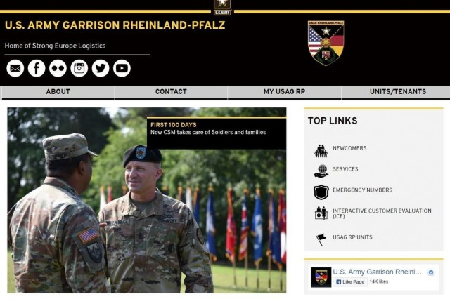 U.S. Army Garrison Rheinland-Pfalz went live this week with an innovative, user-friendly new website and community members are invited to take the first look.