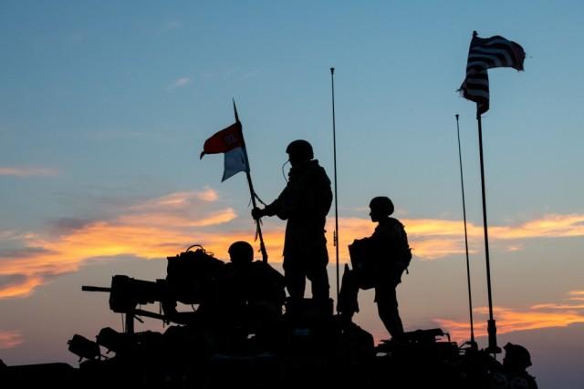 Strykers at dawn