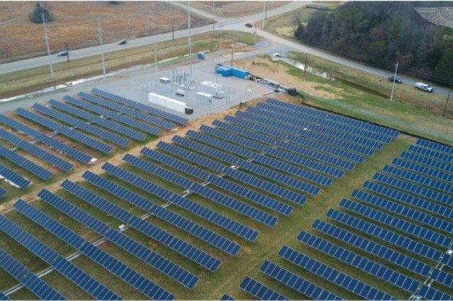 The Redstone Arsenal solar project, Alabama.