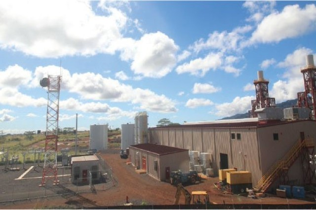 The Schofield Barracks, Hawaii, multifuel generation plant.