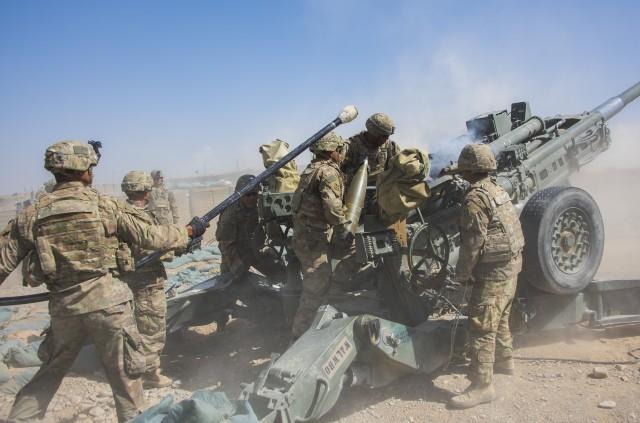 Dropping steel rain, artillerymen deter enemy rockets in Afghanistan