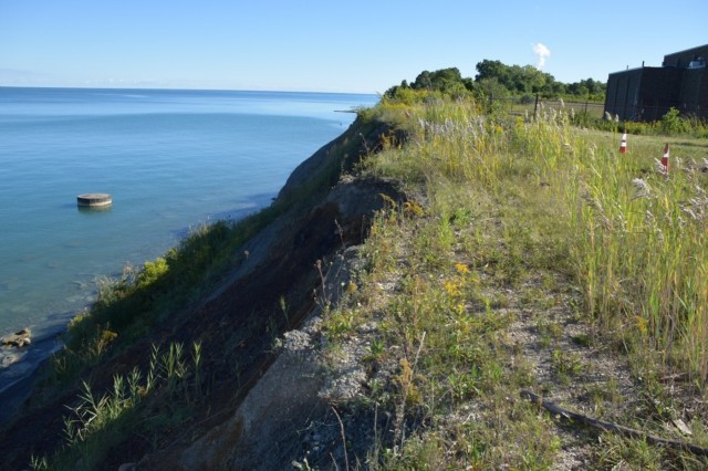 The U.S. Army Corps of Engineers, Buffalo District and Lake County Utilities, along with Congressman David Joyce and Lake County Commissioners signed a Project Partnership Agreement to design a 600-foot stone revetment, protecting the Lake County Raw Water Pump Station water intake from the harsh waves of Lake Erie, September 12, 2016.This is project will ensure that drinking water to 40,000 people is not interrupted.
