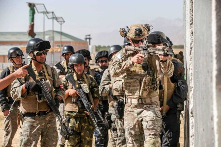 Special Operations and members of the Tajik Armed Forces participated in a Joint Combined Exchange Training program in the vicinity of Dushanbe, Tajikistan, Aug. 27 to Sept. 10, 2018. The exercise consisted of weapons familiarization, medical, and realistic urban combat training. These training events strengthen mil-to-mil relationships between partnered forces as part of regional stability and security and enhance Tajik Armed Forces capabilities.