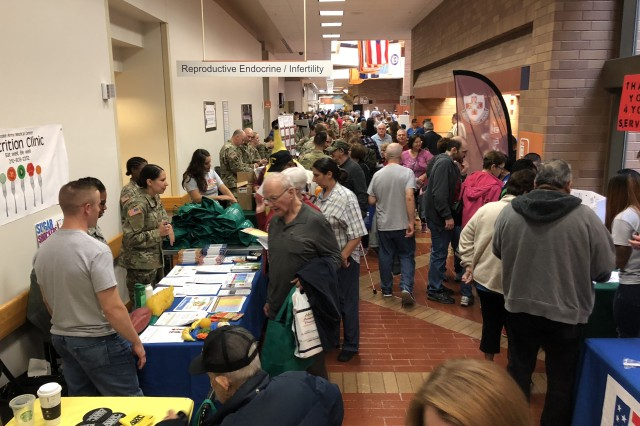 More than 4,700 military retirees, retiring service members and family members received useful information about programs and benefits and well as important health information and screenings during the Joint Base San Antonio and Brooke Army Medical Center Military Retiree Appreciation Day Oct. 20, 2018 in the hospital's Medical Mall.