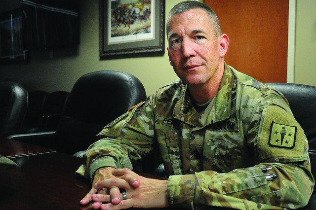 Command Sgt. Maj. Michael J. Perry III, CSM, U.S. Army Combined Arms Support Command, is only the second food service Soldier to hold the position.
