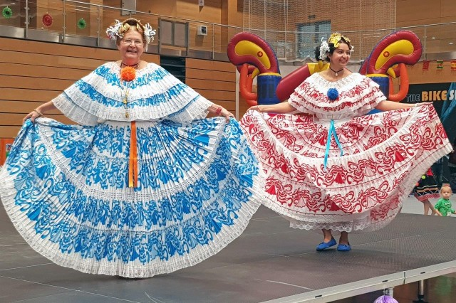 Dancers perform during the Hispanic Heritage Month celebration Oct. 3 at the Fitness Center.