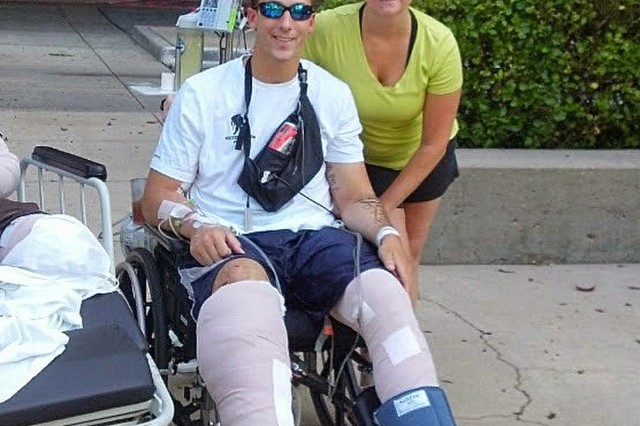 Andrew and Linda Mills at Walter Reed, circa 2012.