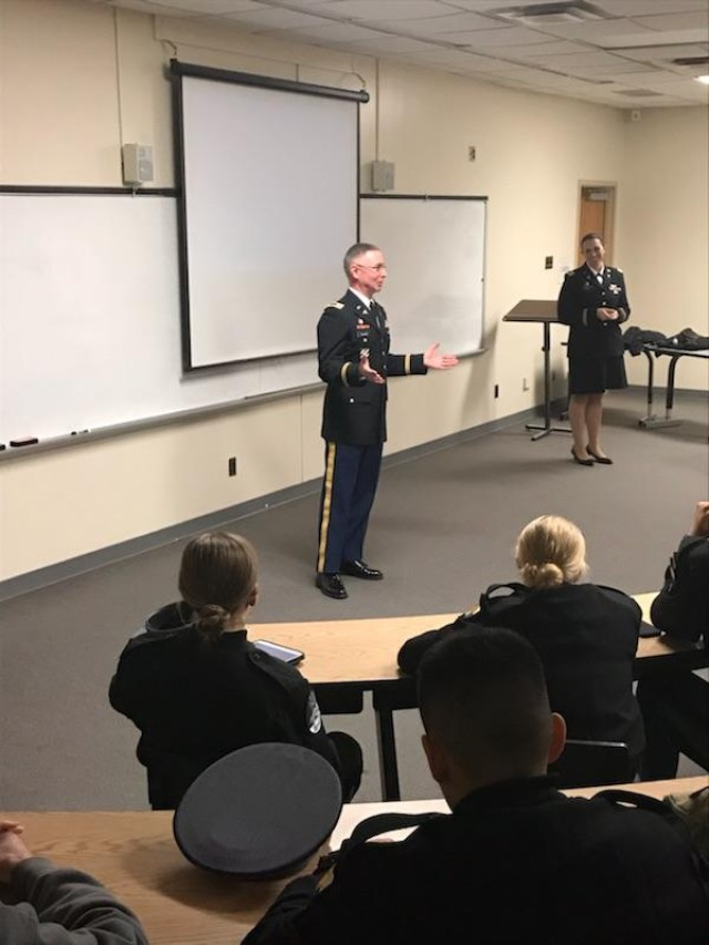 Service before self - Army doctors talk medical school with cadets