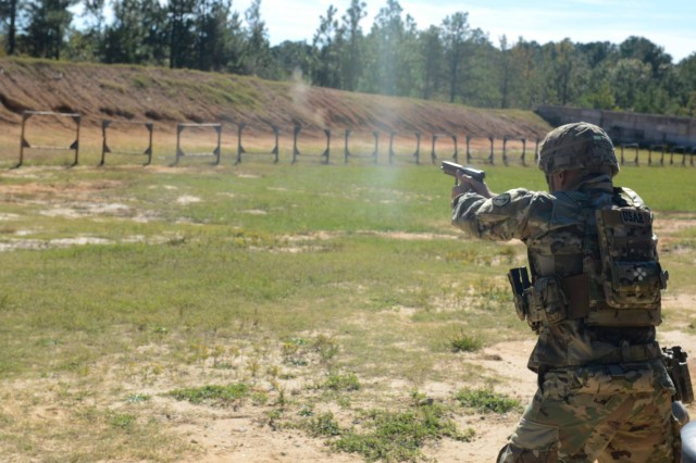 Sixteen teams composed of the best marksmen from across the U.S. Army Forces Command, the National Guard and the U.S. Army Reserve competed in the annual FORSCOM Small Arms Competition at Fort Bragg, N.C., Oct. 22-26, 2018.