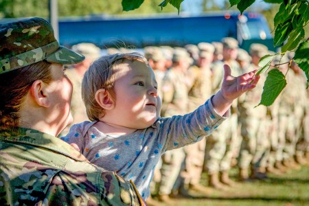 Friends, family, leaders and fellow Soldiers came to Fort Drum to welcome home Soldiers who went to support the Army's response to Hurricane Florence. The company had deployed for approximately two weeks to support hurricane relief efforts in North and South Carolina.