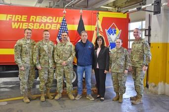 Lt. Gen. Becker visits Wiesbaden
