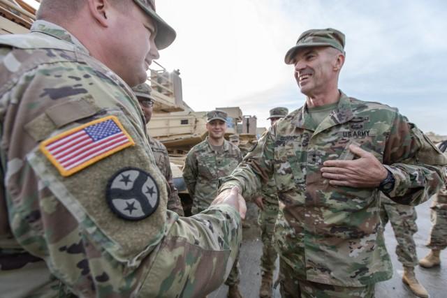 U.S. Army Maj. Gen. John Gronski visits Battle Group Poland