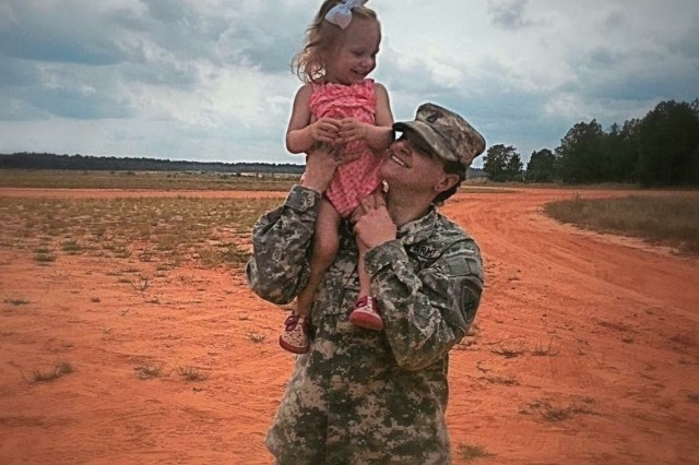 Staff Sgt. Kristen Bell and her daughter Willa.  (Photo courtesy of Staff Sgt. Kristen Bell)
