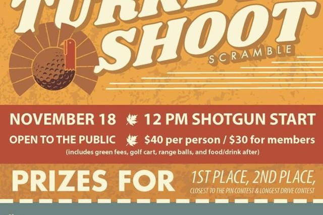 Bring a friend and take advantage of the 2-person Turkey Shoot Scramble at Fort Knox Lindsey Golf Course Nov. 18, starting at noon.