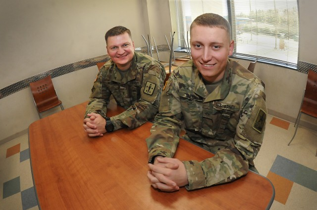Ordnance Soldier welcomes son into his career field