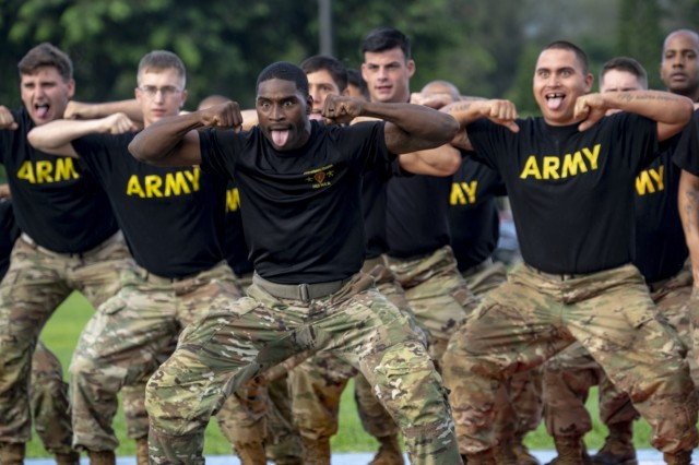 The 25th Infantry Division Haka Team performs at the opening ceremony of the 2018 Pacific Regional Trials at Schofield Barracks, Hawaii, Nov. 6, 2018. The ceremony hosts nearly 100 wounded, ill and injured Soldiers who are competing for a chance to represent the Army at the 2019 Department of Defense Warrior Games.These competitions take place during November, which also coincides with Warrior Care Month. During Warrior Care Month, we focus on activities that allow us to communicate the Army's commitment to wounded, ill, and injured Soldiers, their families, and caregivers, and to emphasize Warrior Transition Unit Soldiers' number one priority is to work as hard on their recovery as they work on defending the nation.