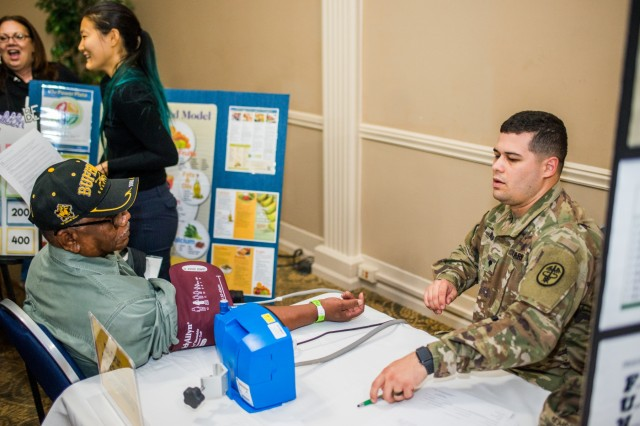 FORT BENNING, Ga. (Nov. 7, 2018) - Veterans of the U.S. military from Georgia and Alabama attended the annual Retiree Appreciation Day event Nov. 2 and the Benning Club at Fort Benning, Georgia. The event provides retirees and their Family members the information on policy updates, the opportunity to network with one another, the chance to renew ID cards, receive medical checkups, and more. (U.S. Army photo by Patrick Albright, Maneuver Center of Excellence, Fort Benning Public Affairs)
