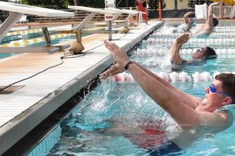 Men's backstroke event at swimming finals, Pacific Regional Trials 2018