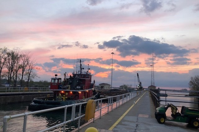 The U.S. Army Corps of Engineers (USACE), Buffalo District is closing the Black Rock Lock to conduct repairs to the gates and lock anchorages from November 26, 2018 to May 4, 2019. (Photo by Edward McDonald)