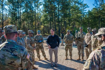 Secretary of Army takes ACFT, visits OSUT, holds town hall at Fort Benning