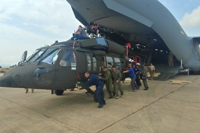 The U.S. Army Security Assistance Command delivered the last four of eight Black Hawk helicopters to Tunisia in June.