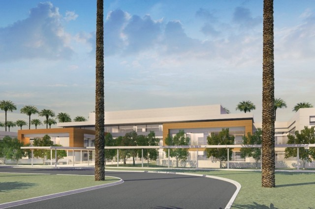 LONG BEACH, Califronia-This artist's rendering show what a proposed community living center may look like when it is complete.The $317 million project, calls for the construction of new mental health in-patient and out-patient facilities and a new community living center to replace aged and seismically deficient buildings. All five phases are expected to be completed by fall 2023 and both facilities are designed to be LEED Silver certified.This is the first of the Corps' VA major construction projects to break ground in the region. Nationally, the Corps is supporting 13 VA projects, totaling an estimated $5 billion.  The South Pacific Division oversees the largest VA design and construction program across the Corps. The Corps' partnership with the VA in the region includes seven major projects, and investing more than $2.5 billion in updating and upgrading facilities throughout the Pacific Southwest.