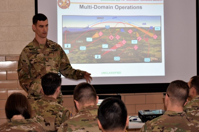 U.S. Army Maj. John Rodriguez, an experienced IO officer, touches on the unification of information-related capabilities in a multi-domain battlefield environment demonstrated in an exercise known as Cyber Blitz 2018. Rodriguez describes how the exercise provided U.S. Army Cyber the opportunity to test new concepts, capabilities and techniques in offensive and defensive cyberspace operations, to electronic warfare and IO.