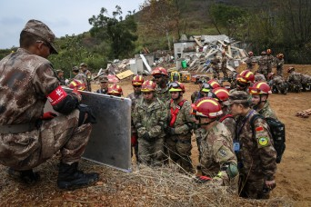 Soldiers from US, China partner for disaster training