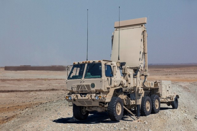 Q-53 An AN/TPQ-53 Radar, scanning for projectiles during the Early Warning Enhanced Capability data collection conducted October, 2018 at Dugway Proving Ground, Utah. Originally designed to locate the firing positions of mortars and rockets, the radar was challenged to collect flight characteristics of various 155mm projectiles, including simulated chemical rounds. Photo provided by Product Manager Radars
