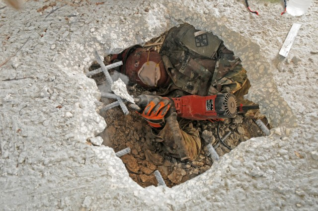 Engineer Soldiers certified in Urban Search and Rescue