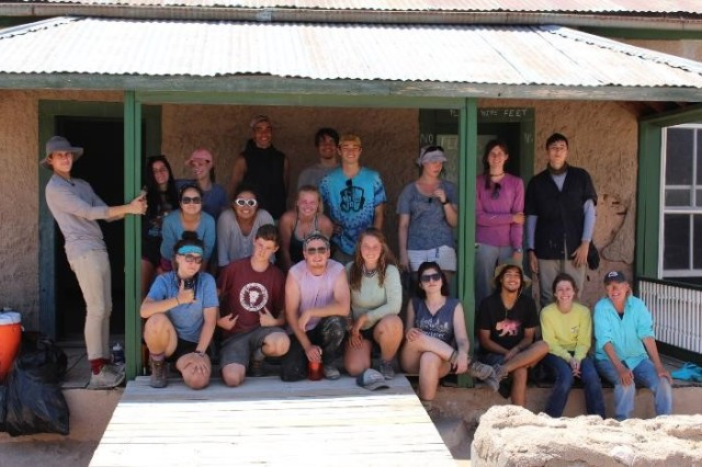 Cottonwood Gulch Expedition volunteers relax with Cornerstones crew.