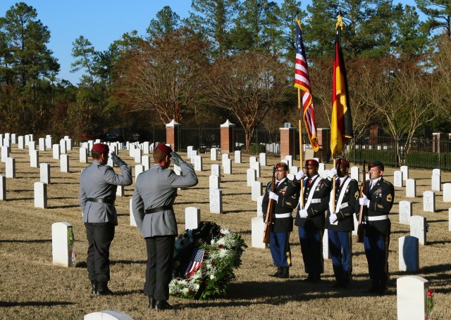 German WWII Soldiers buried on Ft. Bragg memorial Ceremony